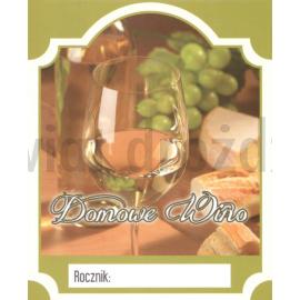 Etykieta DOMOWE WINO 12 szt