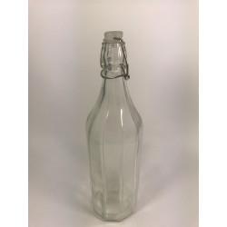 Butelka 1l z pałąkiem, prążki