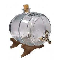 Beczułka szklana 4l na podstawce