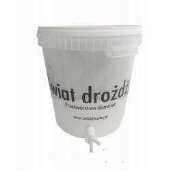 Pojemnik fermentacyjny  przeźroczysty 30 l z podziałką i kranem