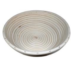 Koszyk rattan okrągły 25cm 1,5kg do wyrastania garowania ciasta na chleb