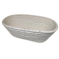 Koszyk rattan podłużny 26x13x9cm do wyrastania garowania ciasta na chleb