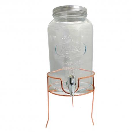 Słój 3,2 l z kranikiem na stojaku lemoniada / drinki